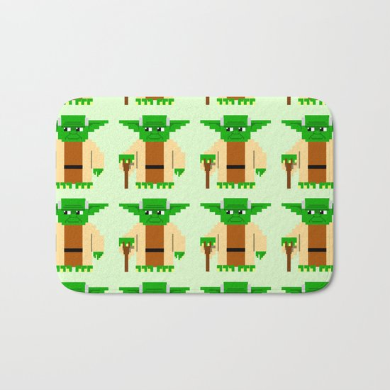 Pixel Yoda Bath Mat
