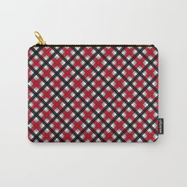 Tartan , red , black , gray Carry-All Pouch