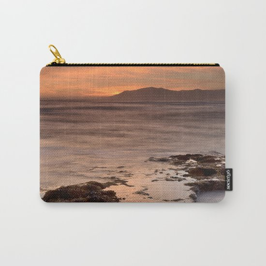 """Last red light"" Sunset at the sea Carry-All Pouch"