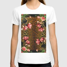 Leopard and Roses T-shirt