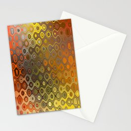 Wobbly Dots in yellow-orange Stationery Cards