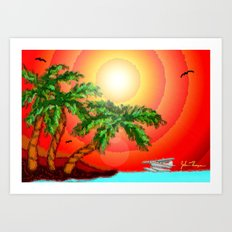 Hide-away paradise Art Print