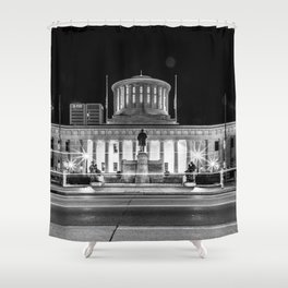 Columbus State House Long Exposure Shower Curtain