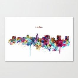 Madison Skyline Silhouette Canvas Print
