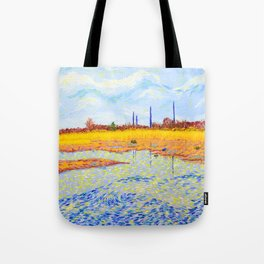 View of John Heinz Nature Reserve Pond Tote Bag