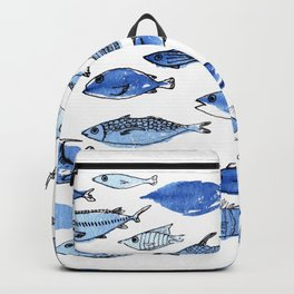 Aquarium blue fishes Backpack