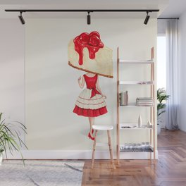 Cake Head Pin-Up: Cherry Cheesecake Wall Mural