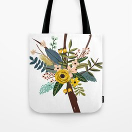 Bold Wildflower Bouquet Tote Bag