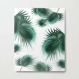 Fan Palm Leaves Paradise #7 #tropical #decor #art #society6 Metal Print