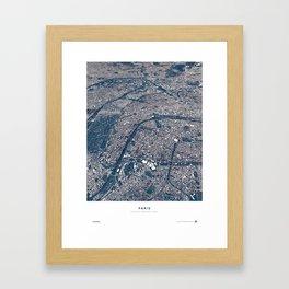 Paris - City Map II Framed Art Print