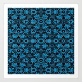 Black and Blue String Art 4406 Art Print