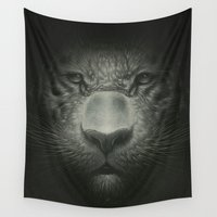 tiger Wall Tapestries featuring Tiger by Dr. Lukas Brezak