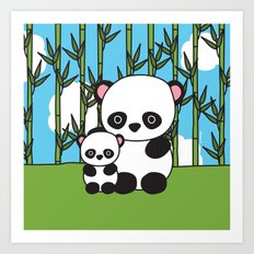 Panda Sweetness Art Print