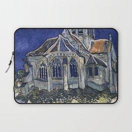 Church At Auvers Sur Oise by Van Gogh Laptop Sleeve