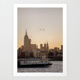 Manhattan Transfer Art Print