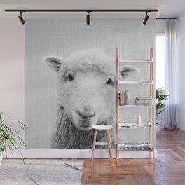 Sheep - Black & White Wall Mural