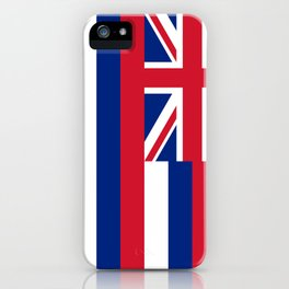 Hawaiian Flag, Official color & scale iPhone Case