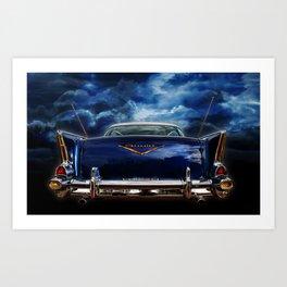 57 Blue Art Print