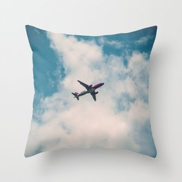 Airplane in the Clouds Throw Pillow