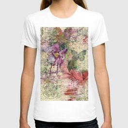 Garden shabby texture T-shirt