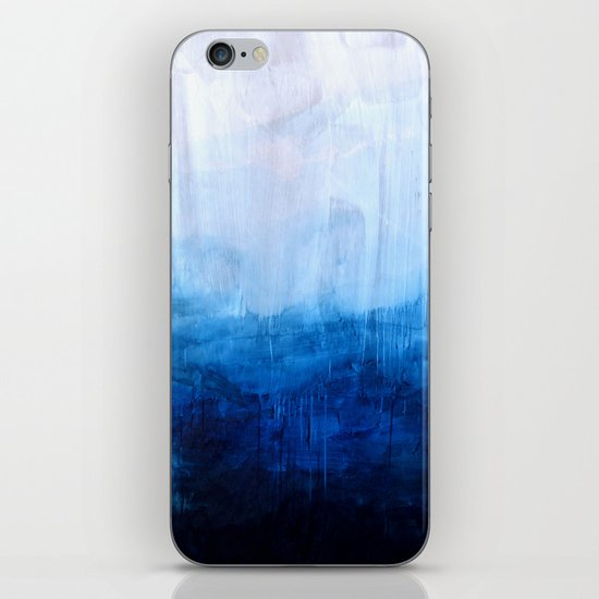 All good things are wild and free - Ocean Ombre Painting iPhone & iPod Skin