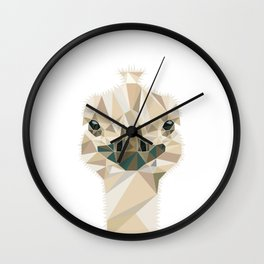 Ostrich polygonal design #society6 #decor #buyart #artprint Wall Clock