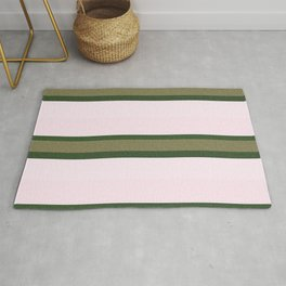 Pink Roses in Anzures 2 Stripes 3H Rug