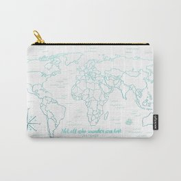 Where We've Been, World, Icy Blue Carry-All Pouch