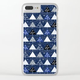 Modern Winter Clear iPhone Case