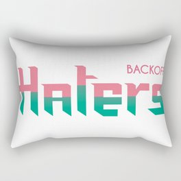 Haters BACKOFF Rectangular Pillow