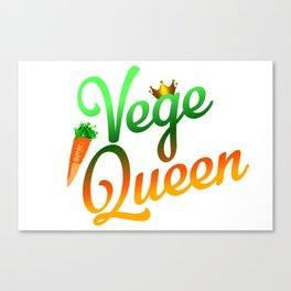 Vege Queen Canvas Print
