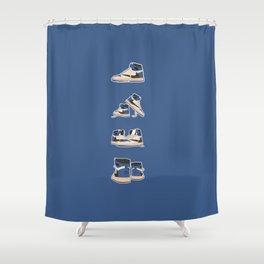 fragment x travis x air jordan 4 pairs sneaker poster  Shower Curtain