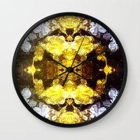 renaissance Wall Clocks featuring GOLD RENAISSANCE by Chrisb Marquez