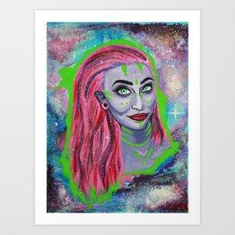 Galaxy Girl Series -3- Caitlin Art Print