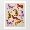 Tiger Collection – Pink & Yellow Palette by catcoq