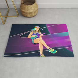 The girl from Saturn by #Bizzartino Rug