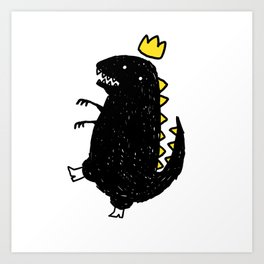 Sometimes it is just time to dinosaur Art Print