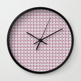 Pink Dots Wall Clock