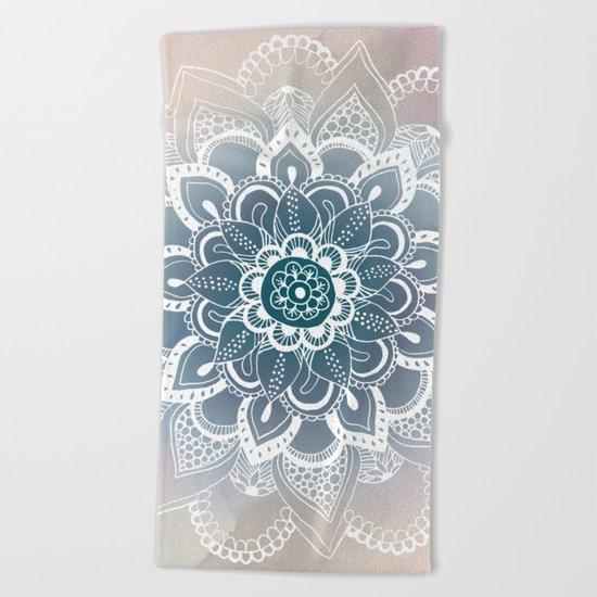 Winter Fountain Mandala Beach Towel