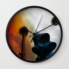 Space Needle Reflection Wall Clock