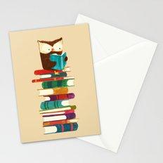 Owl Reading Rainbow Stationery Cards