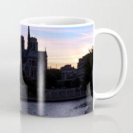 Sunset on Notre Dame de Paris Coffee Mug