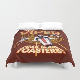 Viper Mk.II - Let's Frak Some Toasters! Duvet Cover