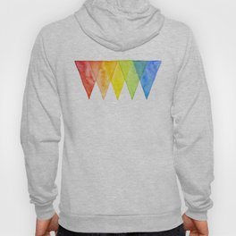 Geometric Watercolor Shapes Triangles Pattern Hoody