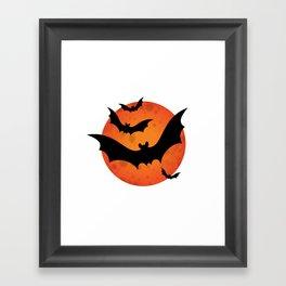 HALLOWEEN | BATS Framed Art Print