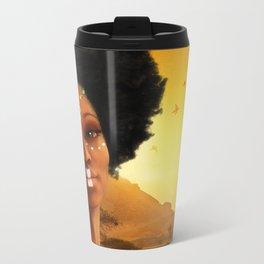 African Princess Metal Travel Mug
