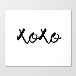 XOXO monochrome Canvas Print
