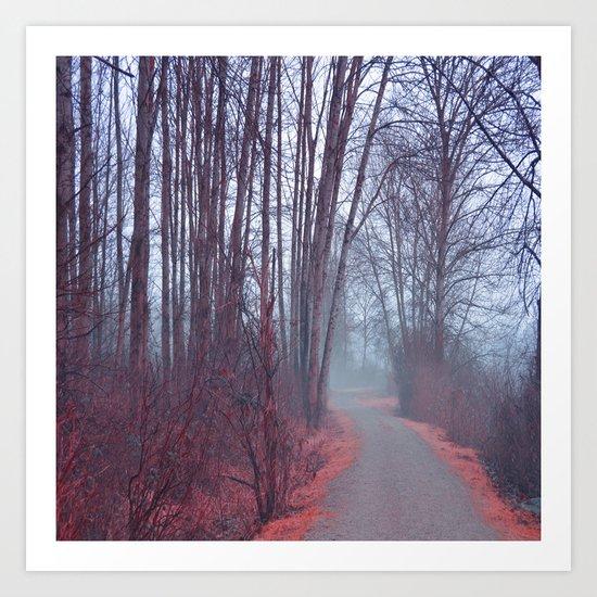 Autumn Walk Through the Park Art Print