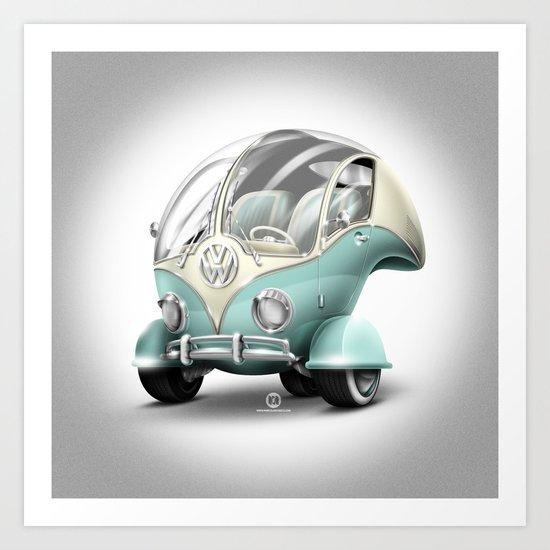 Volkswagen Bubble Art Print