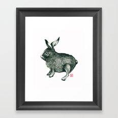 Cold Rabbit Framed Art Print